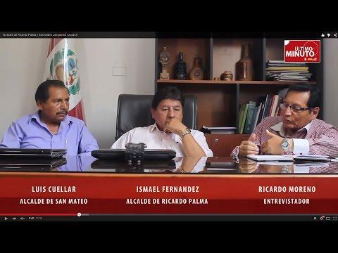 Alcaldes de Ricardo Palma y San Mateo   Lurigancho Chosica