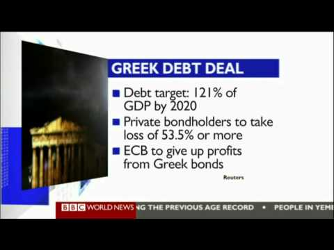 BBC World Business report 20/02/2012 - Greece's 2nd bailout deal reaction