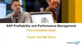 SAP الربحية وإدارة الأداء: 07 إنشاء خلفية المستخدم في BW العميل