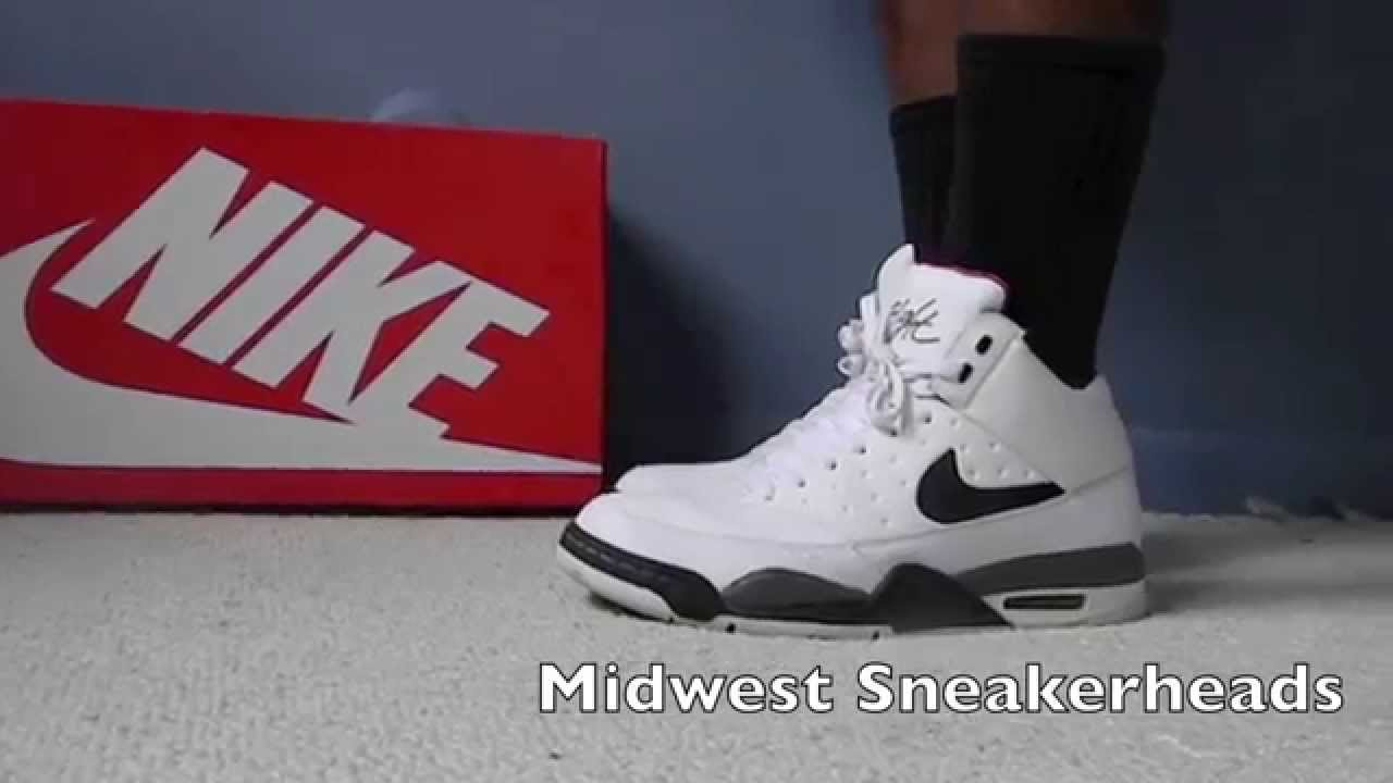 fae07c3db1eff Nike Air Flight Classic (White) On Feet - YouTube
