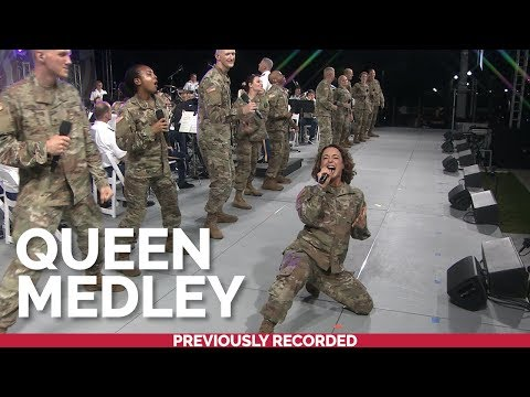 The U.S. Army Band Downrange performs a medley of hits by @Queen Official