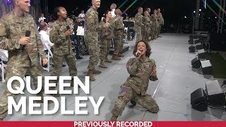 The U.S. Army Voices and Downrange perform a medley of hits by @Queen Official