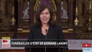 La fille de Bernard Landry lui rend hommage