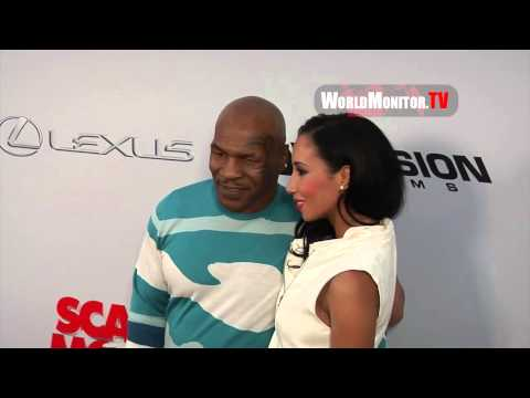 Mike Tyson and wife Kiki Spicer arrive at Scary Movie 5 Los Angeles premiere