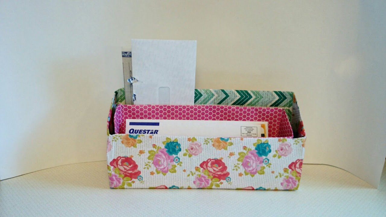 Make A Cereal Box Mail Organizer   DIY Home   Guidecentral   YouTube