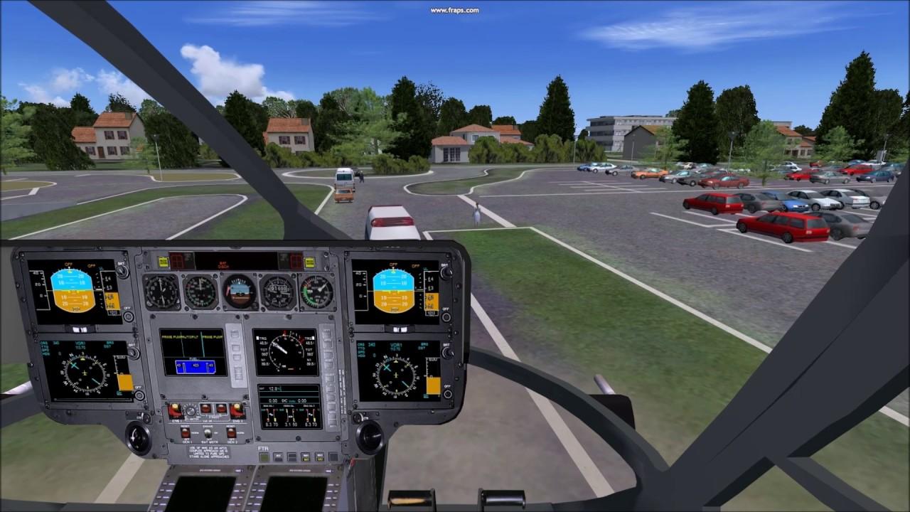 FSX EC 145 Sécurité civile au départ de Pau