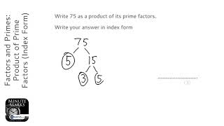 Factors and Primes: Product of Prime Factors (Index Form) (Grade 4) - OnMaths GCSE Maths Revision