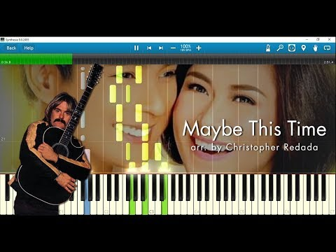 Michael Murphy - Maybe This Time (Sarah Geronimo version), piano arr. by Chris Redada w/ sheet music