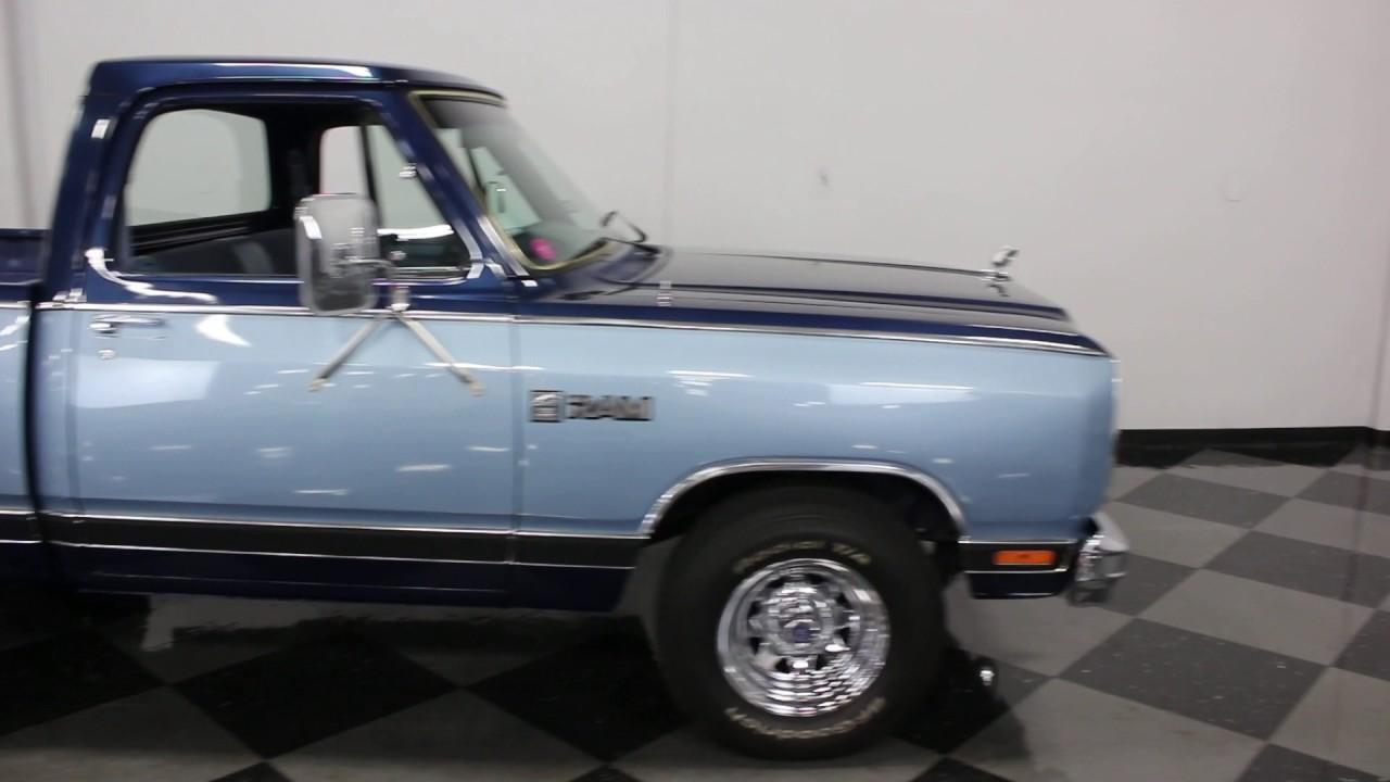2292 DFW 1985 Dodge D100 Custom Prospector - YouTube