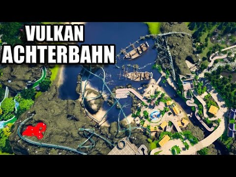 Planet Coaster Deutsch #38 - VULKAN ACHTERBAHN - Speedbuild German Let's Play / Gameplay