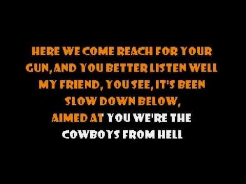 Pantera - Cowboys from Hell (Live) Karaoke