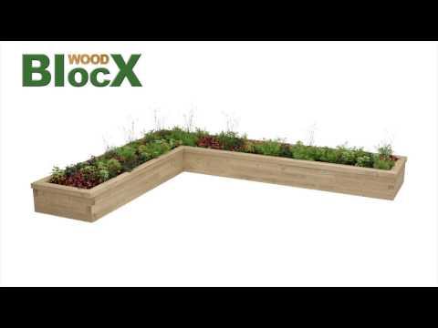WoodBlocX L-Shaped Raised Planter