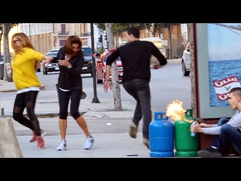 Run For Your Life (Butane Tank On Fire Prank)