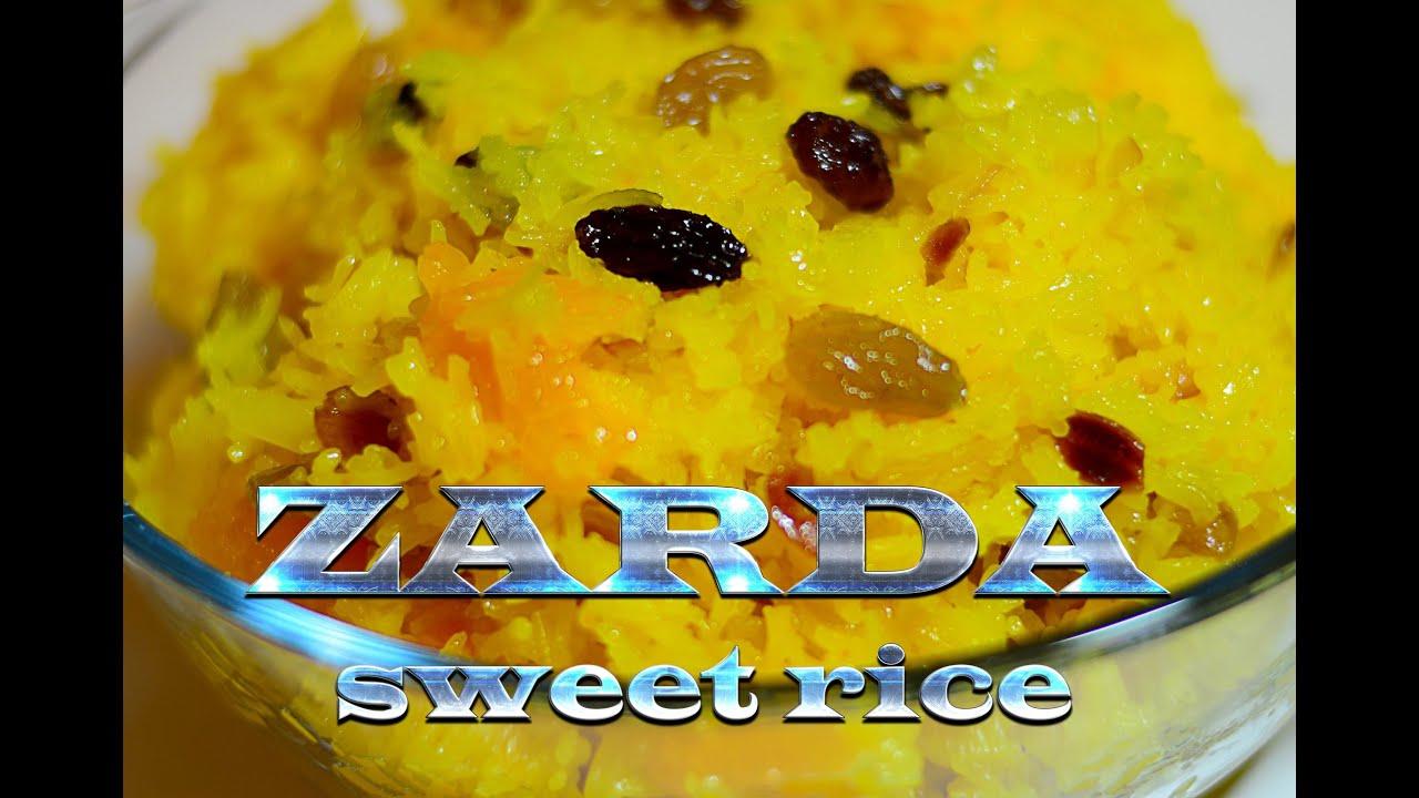 Zarda Sweet Rice Made The Traditional Pakistani Way