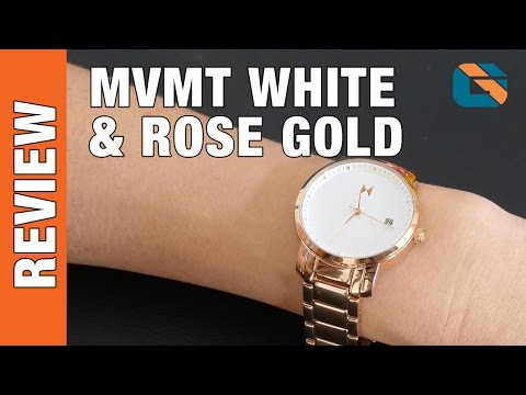 MVMT Watches White Rose Gold Ladies Watch - Watches Up Close