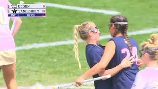 2019 ADN Women's Lacrosse Highlights - Vanderbilt 22, UConn 15