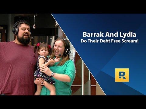 Barrak And Lydia Do Their Debt Free Scream!