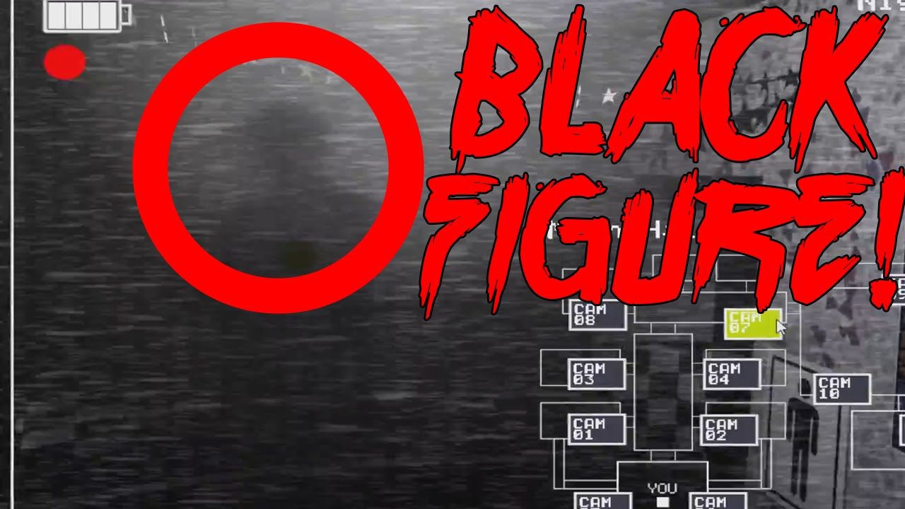 Five Nights At Freddy S 2 Black Mysterious Man Shadow