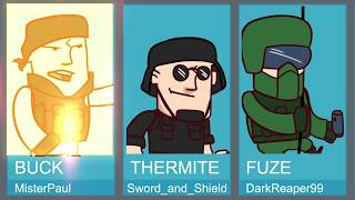 Every Round of Rainbow Six: Siege | Original Parody Animation | ArcadeCloud