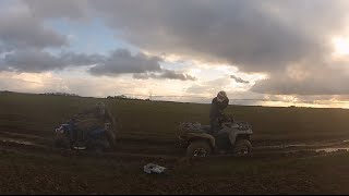 CanAm 500 4x4 & Blaster 200 Quad Bike in the Mud