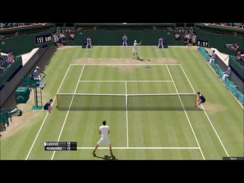 Djokovic vs Mannarino Wimbledon 2nd round (Gameplay)