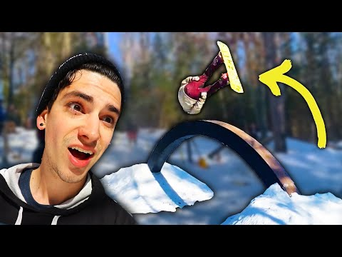 INSANE BACKYARD SNOW SKATEPARK?!