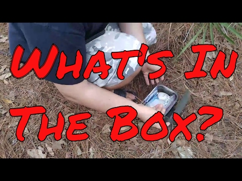 SECRET SCAVENGER HUNT IN THE WOODS (GEOCACHING) & FAM MAIL