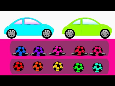 Learn Colors For Children || Soccer Balls Colors and Nursery Rhymes Video For Kids thumbnail