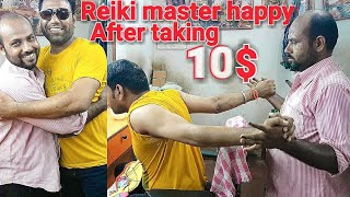 Extreme relaxing head massage by Indian barber Reiki master, neck Cracking, back massage