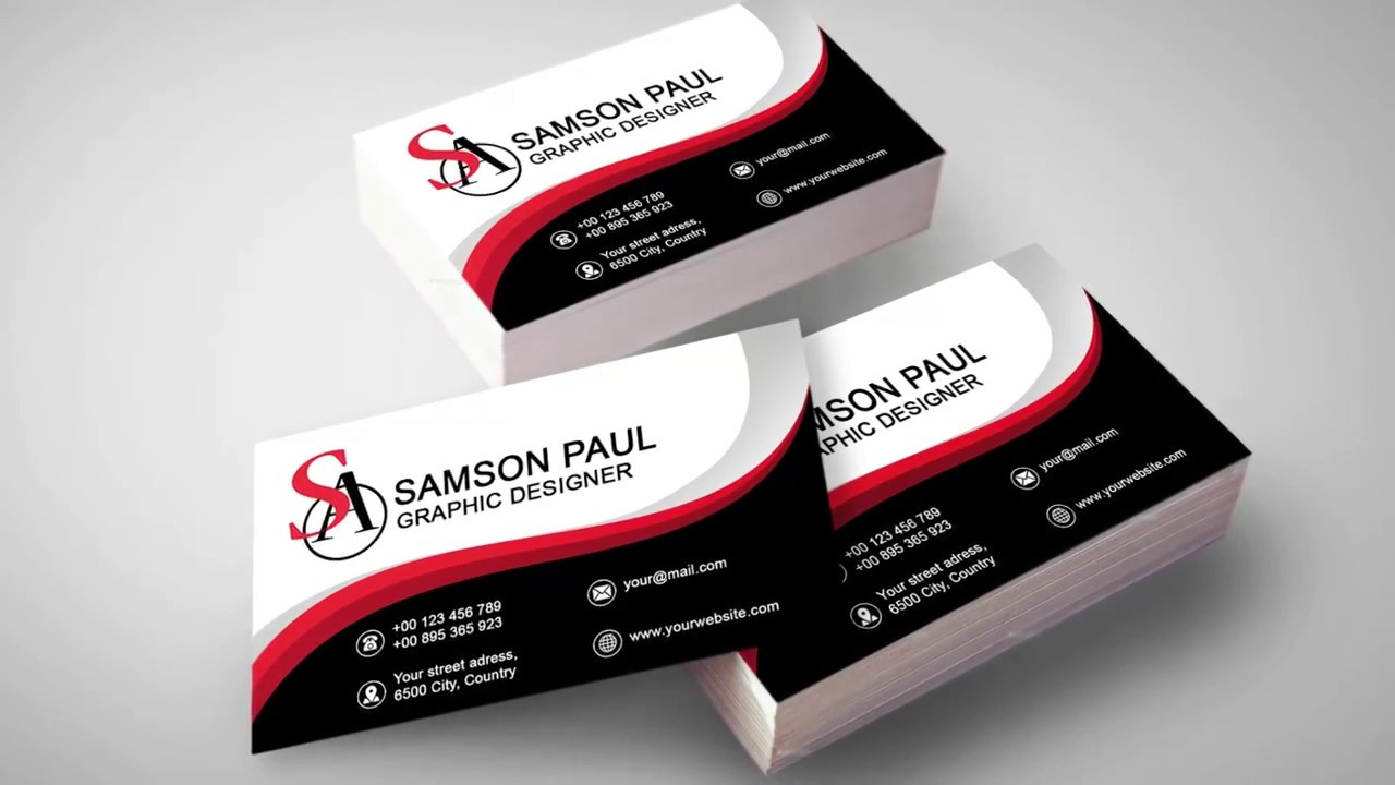 Business Card Design in Photoshop cc 2014 - YouTube