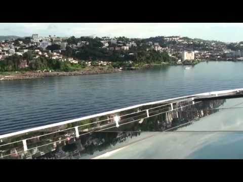 Quantum of the Seas: Inaugural Martinique Arrival & Departure (with NCL Pearl) on December 6, 2014