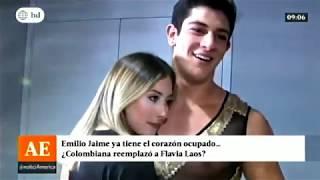 Emilio Jaime reemplazo a Flavia Laos con una colombiana