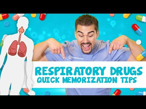 Respiratory drugs quick memorization tips