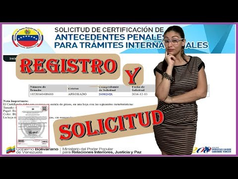 Registro y Solicitud de Antecedentes Penales en Venezuela 2018 💝 - ALGADINA from YouTube · Duration:  4 minutes 54 seconds