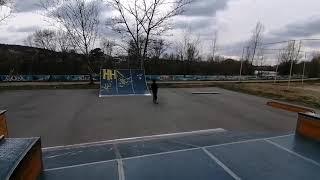 Катаю один в скейт парке