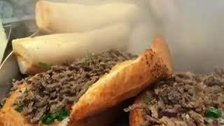 Yüz Dana Eti Biftekten Hazırlanan Baharatlı TANTUNİ😋Turkish Street Food