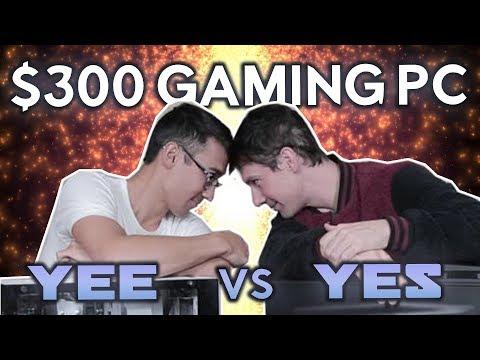 $300 BUDGET GAMING PC SHOWDOWN - Yee Vs YES