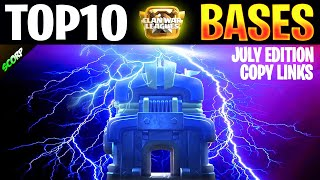 TOP10 TH12 Anti 3 Star War Bases 2019   Clan War League Bases July Edition + Copy Links