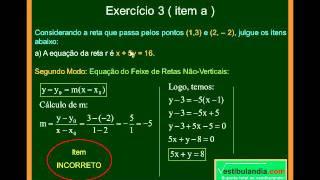 Matemática - Aula 56 - Geometria Analítica - Equação do Feixe de Retas Não Verticais - Parte 2