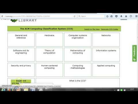 acm classification scheme