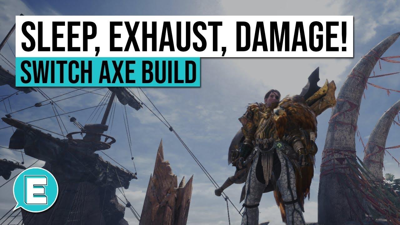 Monster Hunter World   Best Switch Axe Hybrid Status Damage Build