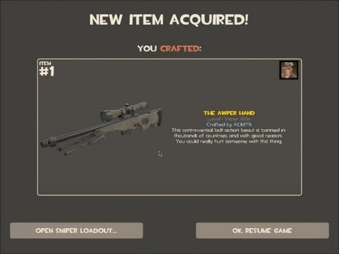 Team Fortress 2 AWPer Hand Craft