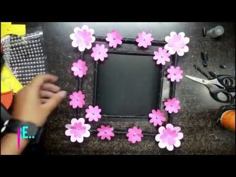 How to make the easiest DIY photo frame by using just 4 materials ??!!   QUICK TUTORIAL!!!