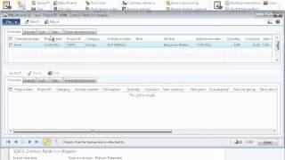 Dynamics AX 2012 - Projekt-Transaktion Anpassungen