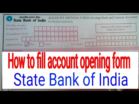 How to fill account opening form || State Bank of India || in simplified Hindi