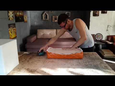 видео: Изготовление пуфа. Мебель своими руками