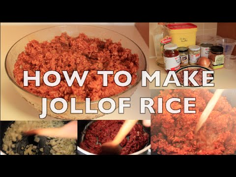 Ghanaian food how to make jollof rice quick easy youtube forumfinder Gallery