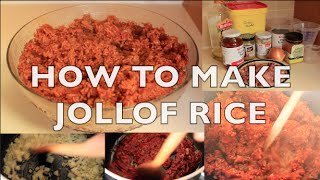 Ghanaian Food| How to Make Jollof Rice {Quick & Easy}
