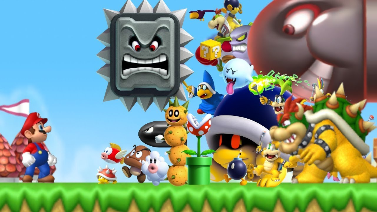 Can Mario Beat Every Enemy In New Super Mario Bros Wii Youtube