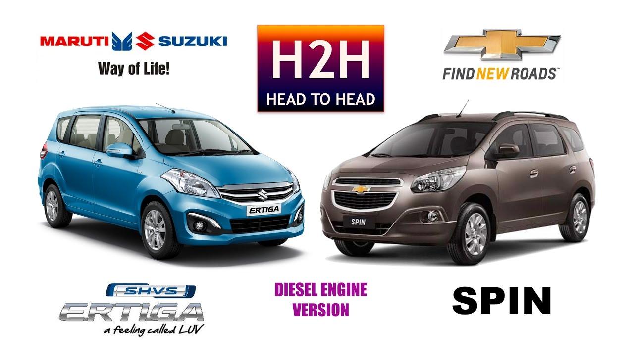 New Ertiga Vs Grand Veloz Avanza Tampak Belakang H2h 98 Maruti Suzuki Shvs Chevrolet Spin Youtube